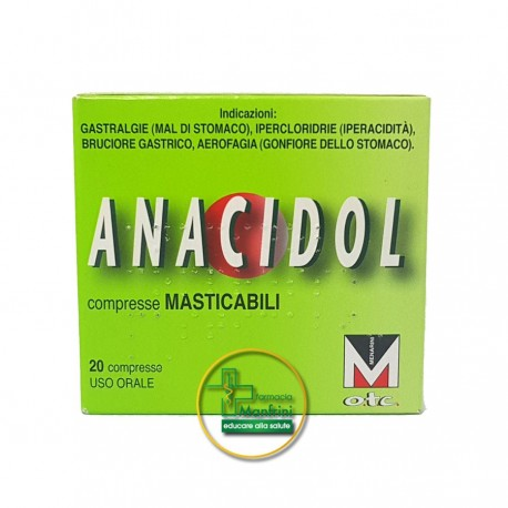 Anacidol 20 compresse