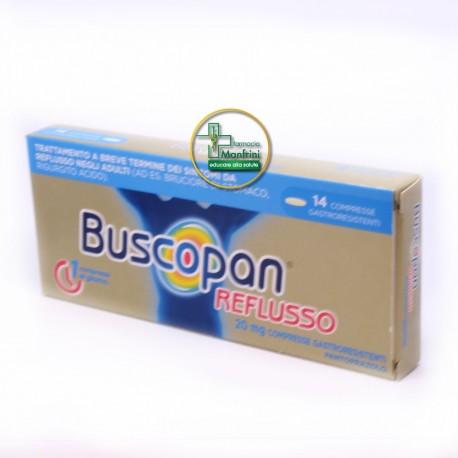 Buscopan Reflusso Gastroprotettore Per Acidità Di Stomaco E Reflusso 14 Compresse