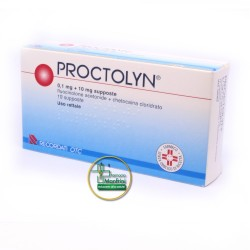 Proctolyn 0,1mg+10mg 10 Supposte