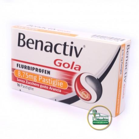 Rb Benactiv Gola Gusto Arancia Senza Zucchero 16 Pastiglie