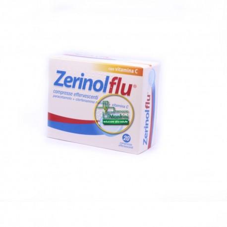 Zerinolflu 300mg + 1,41mg + 280mg Con Vitamina C 12 Compresse Effervescenti