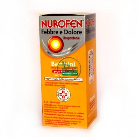 Nurofen Febbre e Dolore bimbi fragola senza zucchero ml 150