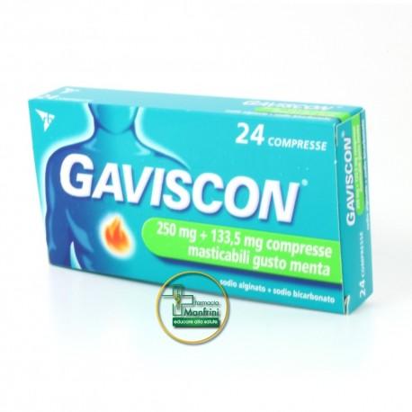 Rb Gaviscon Gusto Menta 24 Compresse Masticabili