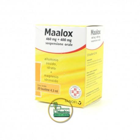 Maalox Sospensione Orale 460 mg + 400 mg 20 Bustine