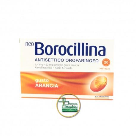 NeoBorocillina Antisettico Orofaringeo 6,4mg + 52mg Arancia