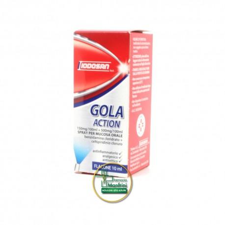 Iodosan Gola Action 0,15%+0,5% Spray Trattamento Antinfiammatorio Della Gola Flacone 10ml
