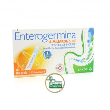 Enterogermina 4 Miliardi Sospensione Orale 10 Flaconcini Da 5ml