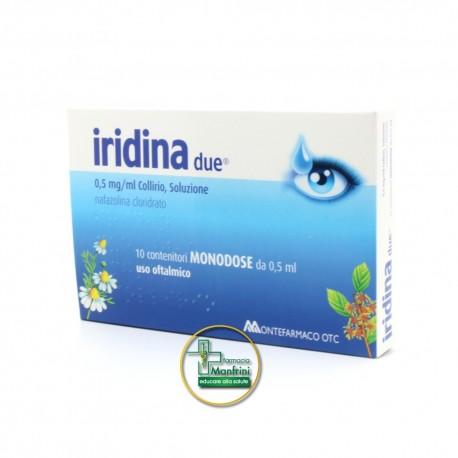 Iridina Due0,05% Collirio Per Occhi Irritati Ed Arrossati 10 Flaconcini 0,5ml