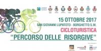 """Cicloturistica """"Percorso le Risorgive"""" 18 ottobre 2017"""